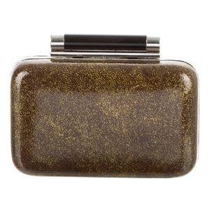 Diane Von Furstenberg Gold Metallic Evening Clutch